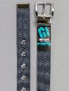 #34 【M】 グレー ナイロン 1P32mm巾ベルト W95cm