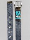 #35 【L】 グレー ナイロン 1P32mm巾ベルト W110cm