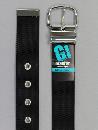 #36 【M】 黒 ナイロン 1P40mm巾ベルト W95cm