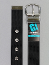 #37 【L】 黒 ナイロン 1P40mm巾ベルト W110cm