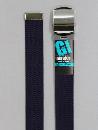 #41 【M】 紺 綿GIローラー 32mm巾ベルト W95cm