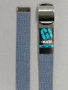 #41 【M】 グレー 綿GIローラー 32mm巾ベルト W95cm