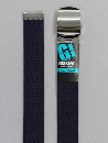 #48 【L】 紺 綿GIローラー 32mm巾ベルト