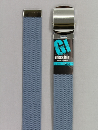 #48 【L】 グレー 綿GIローラー 32mm巾ベルト