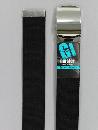 #42 【M】 黒 綿ローラー 40mm巾ベルト W95cm