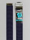 #42 【M】 紺 綿ローラー 40mm巾ベルト W95cm