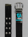 #39 【L】 黒 ナイロン 2P40mm巾ベルト W110cm