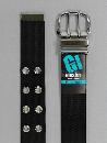 #38 【M】 黒 ナイロン 2P40mm巾ベルト W95cm