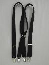 #70 黒 サスペンダーX型30mm巾 【普通サイズ】