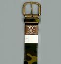 #72 【L】 グリーン 迷彩1P40mm巾ベルト