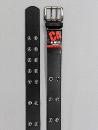 #78 【L】 黒 合皮アイレット 2P40mm巾ベルト