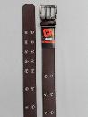 #78 【L】 チョコ 合皮アイレット 2P40mm巾ベルト
