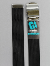 #33 【LL】 黒 ナイロンローラー 40mm巾ベルト W130cm