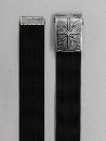 #80 【L】 綿ベルトストリートバックル 40mm巾 黒