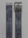 #80 【L】 綿ベルトストリートバックル 40mm巾 グレー
