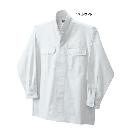 鳳皇 3700 立衿シャツ 17ホワイト LL