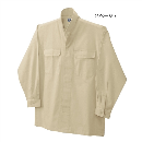 鳳皇 3700 立衿シャツ 2ベージュ M