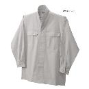 鳳皇 3700 立衿シャツ 39シルバーグレー M