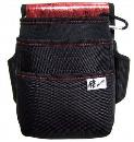 侍ブラック 電工腰袋 3段 赤