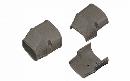 因幡電工 配管化粧カバー(端末) 機器接続部用 ブラウン SEN-100-B