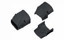 因幡電工 配管化粧カバー(端末) 機器接続部用 ブラック SEN-100-K