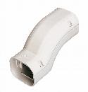 因幡電工 配管化粧カバー 段差継手 幕板(段差50mm以下)越え用 アイボリー SIF-100-I