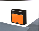 家庭用郵便ポスト ダイヤル錠付(マットブラック・オレンジ)