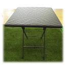 ラタン調ガーデン角テーブル  約幅66×奥66×高73.5cm
