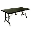 ラタン調ガーデンテーブル 約幅180×奥75×高72cm