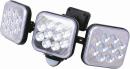 ムサシ 12W×3灯 フリーアーム式LEDセンサーライト LED−AC3036