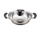 パール金属 よせ鍋 両手鍋 26cm ガラス鍋蓋付 IH対応 ステンレス NEWだんらん H−5877