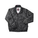 #935 ホシ服装 防寒ジャケット カモグレー L
