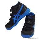 アシックス 作業靴 ウィンジョブ FIS42S 9042 ブラック×ブルー 25.0cm