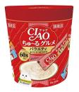CIAO チャオ ちゅ〜るグルメ バラエティ まぐろ・かつお・ささみ 14g×60本入り