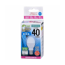 OHM LED電球 ミニクリプトン形 40形相当 E17 昼光色 広配光