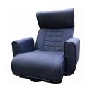 レバー式スプリング回転座椅子 ネイビー FKSLバラク