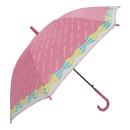 子供プリントジャンプ傘 55cm ピンク