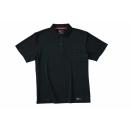 ホシ服装 224 半袖ポロシャツ ブラック LL