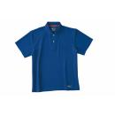 ホシ服装 224 半袖ポロシャツ ロイヤルブルー L