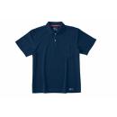 ホシ服装 224 半袖ポロシャツ ネイビー LL