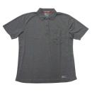 224 半袖ポロシャツ 44:杢ブラック M