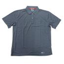 224 半袖ポロシャツ 66:杢ネイビー L