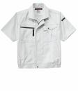 ホシ服装 #686 半袖ブルゾン ライトグレー M