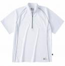 ホシ服装 228 半袖ジップアップシャツ ホワイト LL