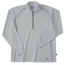ホシ服装 #229 長袖ZIPシャツ 20 シルバー LL