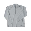 ホシ服装 229 長袖ZIPシャツ 20 シルバー S