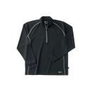 ホシ服装 229 長袖ZIPシャツ 40 ブラック S