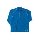 ホシ服装 229 長袖ZIPシャツ 50 ブルー S