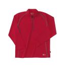 ホシ服装 229 長袖ZIPシャツ 70 レッド S