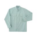 ホシ服装 5330 長袖シャツ アースグリーン M